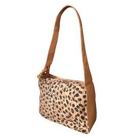 Christian Dior-Handbags-Cream,Dark brown