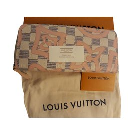 "Louis Vuitton-ZIPPY PORTFOLIO ""Tahitienne Damier Azur""-Other"