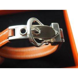 Hermès-Bracelet  JAVA en veau de couleur fauve-Marron clair