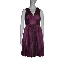 Halston Heritage-Orchid pleaded dress-Purple