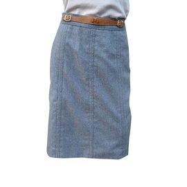 Hermès-Skirts-Dark grey