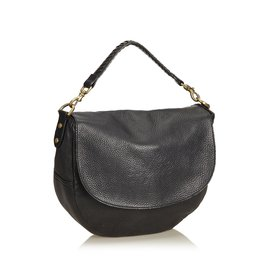 Mulberry-2 Way Leather Hobo-Black