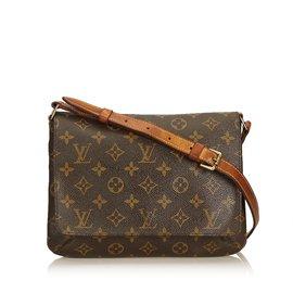 f90874e5fb43 Louis Vuitton-Monogram Musette Tango Short Strap-Brown ...