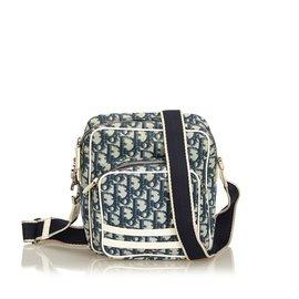 c73d42fc1d60 Dior-Oblique Trotter Crossbody Bag-White