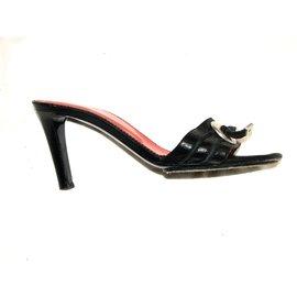 Yves Saint Laurent-Mules vintage-Noir