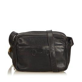 a60107f2a481 Gucci-Sac à bandoulière en cuir Horsebit-Noir ...