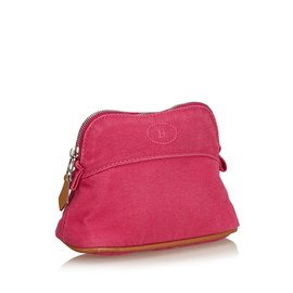 Hermès-Etui de voyage mini bolide-Marron,Rose,Marron clair