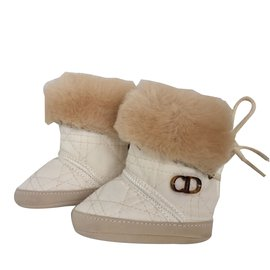 Baby Dior-Boots-Beige,Eggshell