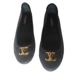 Louis Vuitton-Ballerines Oxford-Noir