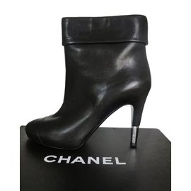 Chanel-Bottines-Noir