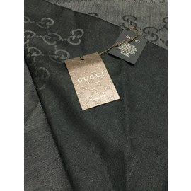 Gucci-écharpe monogramme grand GG-Gris anthracite
