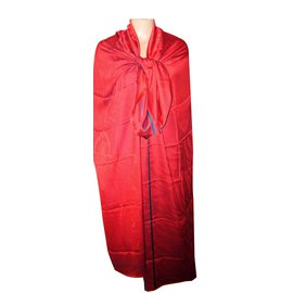 Kenzo-grande étole rouge à motifs tigres en soie-Rouge ... edaffdf6216