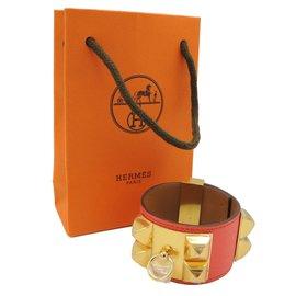 Hermès-BRACELET COLLIER DE CHIEN NEUF-Rose