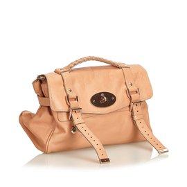 Mulberry-Leather Alexa Satchel-Pink