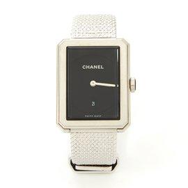Chanel-Boyfriend tweed acier-Argenté