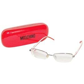 Moschino-Monture Moschino-Blanc,Rouge