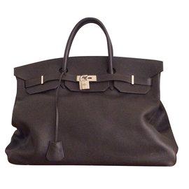 Hermès-Birkin 48 heures (Week-end)-Marron foncé