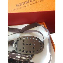 Hermès-Boucle pour ceinture-Gris anthracite