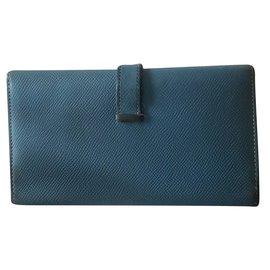 Hermès-Bearn wallet-Light blue