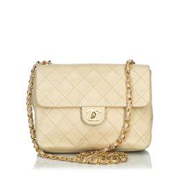 Chanel-Classic Mini Flap Crossbody Bag-Brown,Beige
