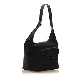 Burberry-Suede Hobo Bag-Brown,Black,Dark brown