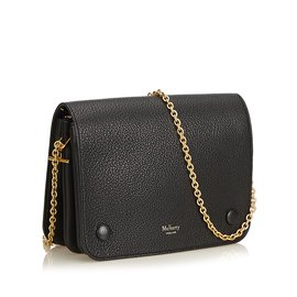 Mulberry-Classic Grain Leather Clifton-Black