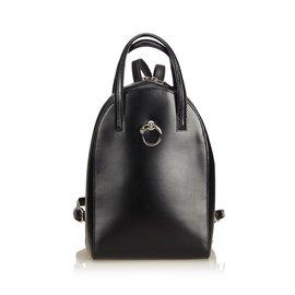 Cartier-Sac à dos en cuir Panthere-Noir