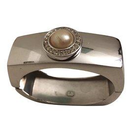 Christian Dior-Gros bracelet-Argenté