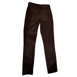 Ikks-Burgundy trousers 7 / 8eme-Dark red