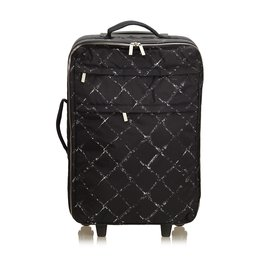 Chanel-Old Travel Line Trolley-Black,White