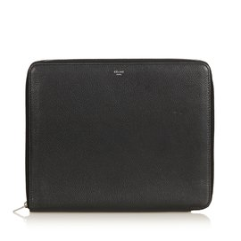 Céline-Small Zipped Multifunction Wallet-Black