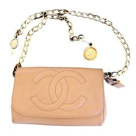 Chanel-Ceinture d'pochette-Beige