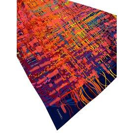 Chanel-CARRE SOIE-Multicolore