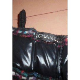 Chanel-Jupes-Noir,Multicolore