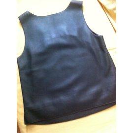 Hermès-Leather top-Other,Dark grey
