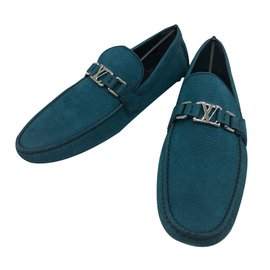 4e5c9f459f7 Louis Vuitton loafers Hockenheim model in azure suede, size 44,5, new  condition! - 10 (44,5)