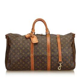 Louis Vuitton-Monogram Keepall Bandouliere 55-Marron