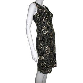 Anna Sui-Dresses-Black,Golden,Eggshell