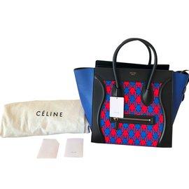 Céline-Sac Luggage Mini - Edition limitée-Bleu