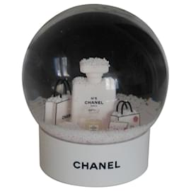 Chanel-Boule à neige-Blanc