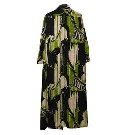 Lanvin-Maxi robe d'été-Vert