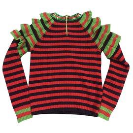 Gucci-Pull avec décoration des paillettes-Multicolore