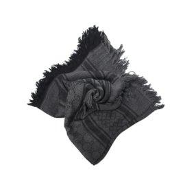 Gucci-étole en laine et soie gris et noir neufs-Noir,Gris anthracite