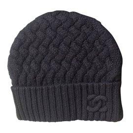 60a4dc6f Chanel-Cashmere beanie-Black ...