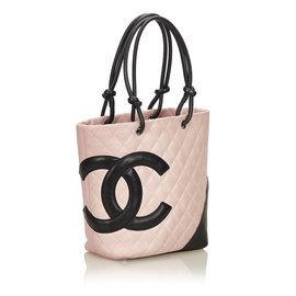 Chanel-Cambon Line Tote-Black,Pink,Other