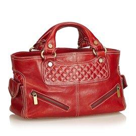 Céline-Sac boogie en cuir-Rouge