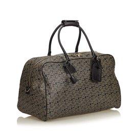 Céline-Printed Travel Bag-Black,Other,Grey