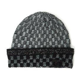 3b3392ab Chanel-Black grey silver cashmere-Black ...