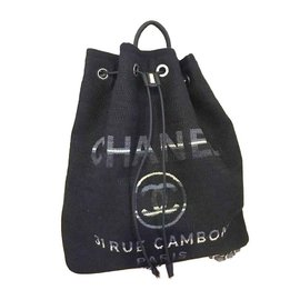Chanel-Deauville backpack-Navy blue