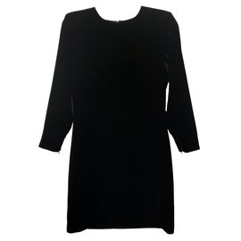 Yves Saint Laurent-robe en velours-Noir